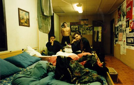 Tour 1994: Sleep-over after concert, OMG! (Noeth, Kleiner, v. Arndt)